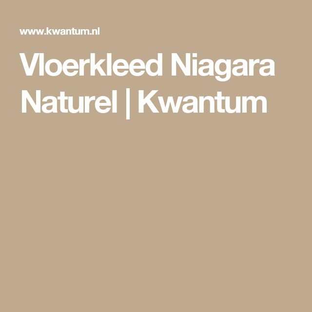 Vloerkleed Niagara Naturel   Kwantum
