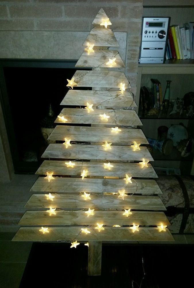 Albero di Natale abete realizzato con pallet in Casa, arredamento e bricolage, Feste e occasioni speciali, Decorazioni e alberi di Natale | eBay