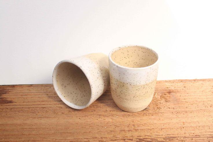 Stoneware tumblers by Stinging Nettle Studio