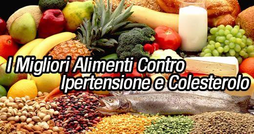 alimenti ipertensione colesterolo