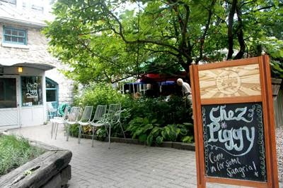 Chez Piggy. Kingston, Ontario, Canada.  It is an hour's drive from Watertown, NY and reason alone to have a passport.
