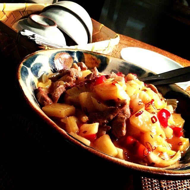 豚肉は揚げずに焼いて、ヘルシーに。ごちそう様♥ - 85件のもぐもぐ - 糖醋肉 sweet & sour pork  豚ヒレ肉のパイナップル炒め by Yuka Nakata