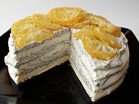 Ismét egy habcsókos desszert, ezúttal mákkal és kandírozott citrommal. Hozzávalók 18 cm átmérőjű tortához A lapokho...