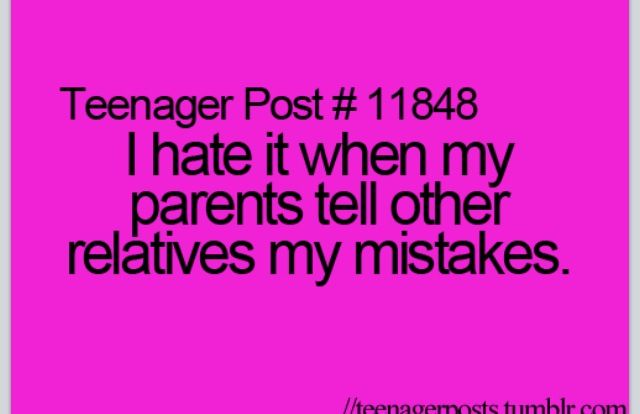 its so true. my dads mom hates me, because i dont get good grades. i dont give a fuck about what you think, its my life.