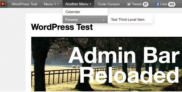 Admin Bar Reloaded - CodeCanyon Item for Sale