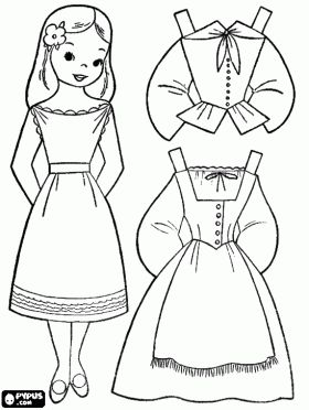 Cute paper dolls for boys and girls! - Can color online or print it in B&W!  :)