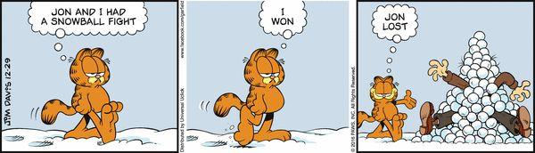 Garfield Comic Strip, December 29, 2016     on GoComics.com