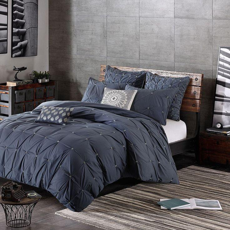 Ink+ivy 3-piece Masie Comforter Set, Blue (Navy)