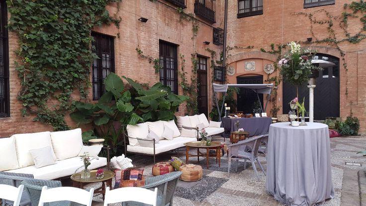 Zona barra libre Casa Palacio Guardiola Sevilla