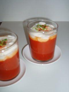 4-gangen diner: Paprika-tomatencappuccino!