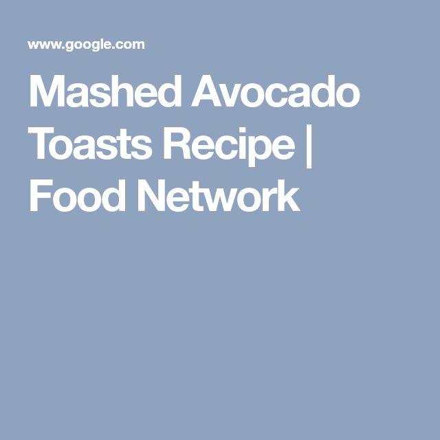 Mashed Avocado Toasts Recipe | Food Network