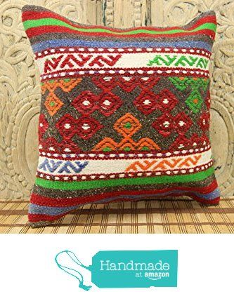 Bohemian kilim pillow cover 16x16 Rustic Kilim pillow cover Natural Kilim Pillow cover Boho Kilim Pillow Cover Turkish Handmade Kilim Pillow Cover Stripe Pillowcases from Kilimwarehouse http://www.amazon.com/dp/B0198B83KK/ref=hnd_sw_r_pi_dp_vrsCwb04CZW00 #handmadeatamazon