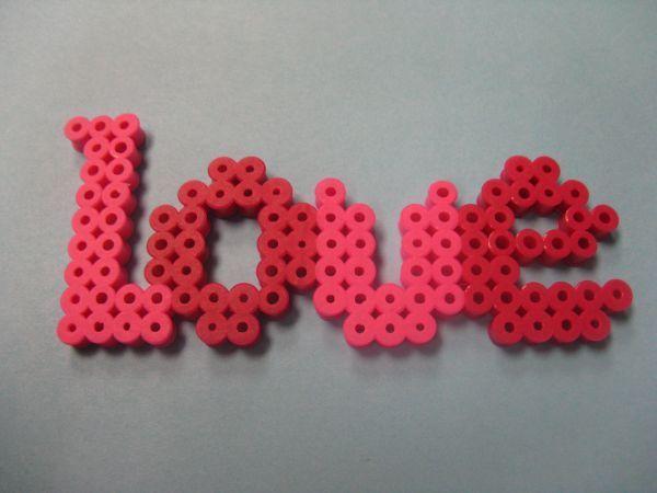 Love hama beads