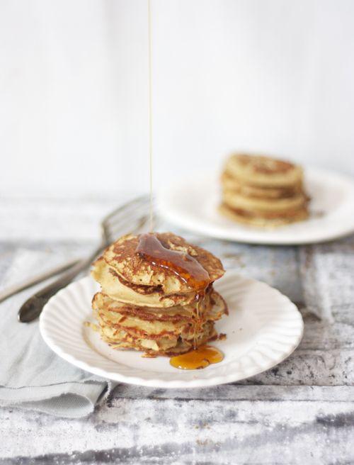 Banana Silver Dollar Coconut Flour Pancakes #TheSpunkyCoconut