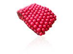 Red Wooden Bead Cuff woven together with stretch elastic cotton. 8 rows of 8mm wooden beads. On SALE at Sweet Sweet Silver