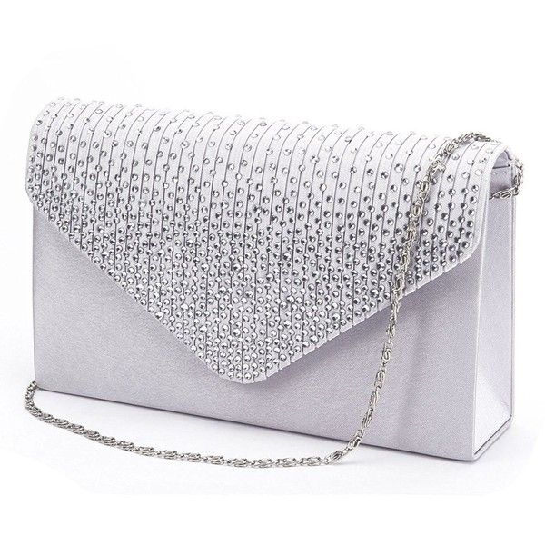 Jubileens Las Large Evening Satin Bridal Diamante Clutch Bag 47 Qar