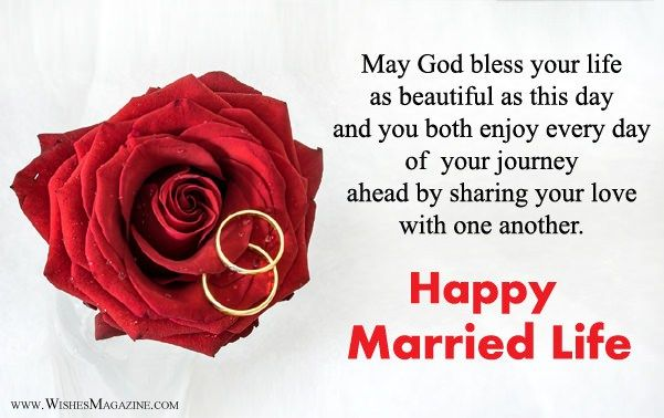 Happy Married Life Wishes | Wish You Happy Married Life Messages | Happy married life, Happy married life quotes, Happy wedding wishes