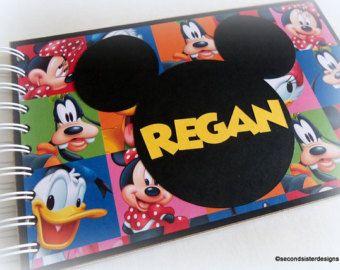 PERSONALIZADOS Disney libro de autógrafos viaje diario vacaciones foto álbum
