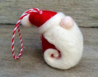 Christmas Decoration Wool Felted Santa St Nick by newtknees