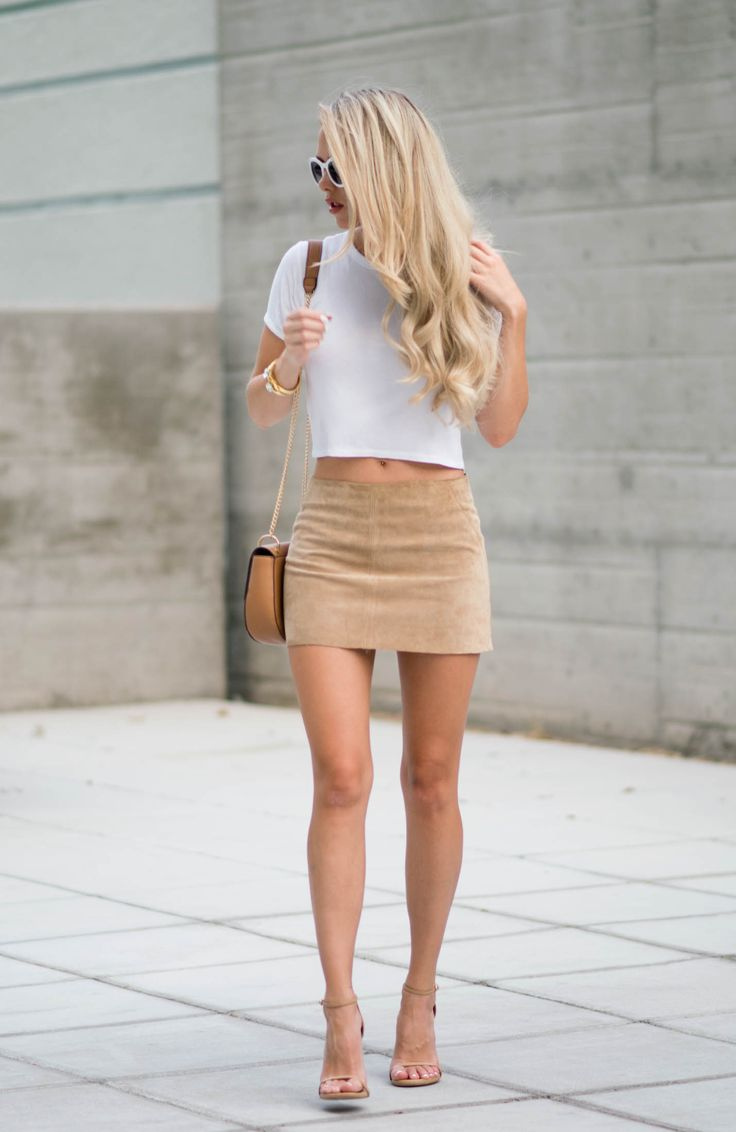 Fashion look - beige and white