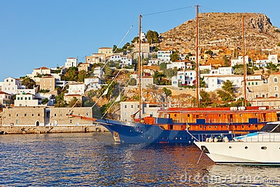 Hydra island, Greece by Sborisov, via Dreamstime