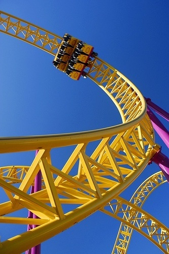 roller coaster image for screens.