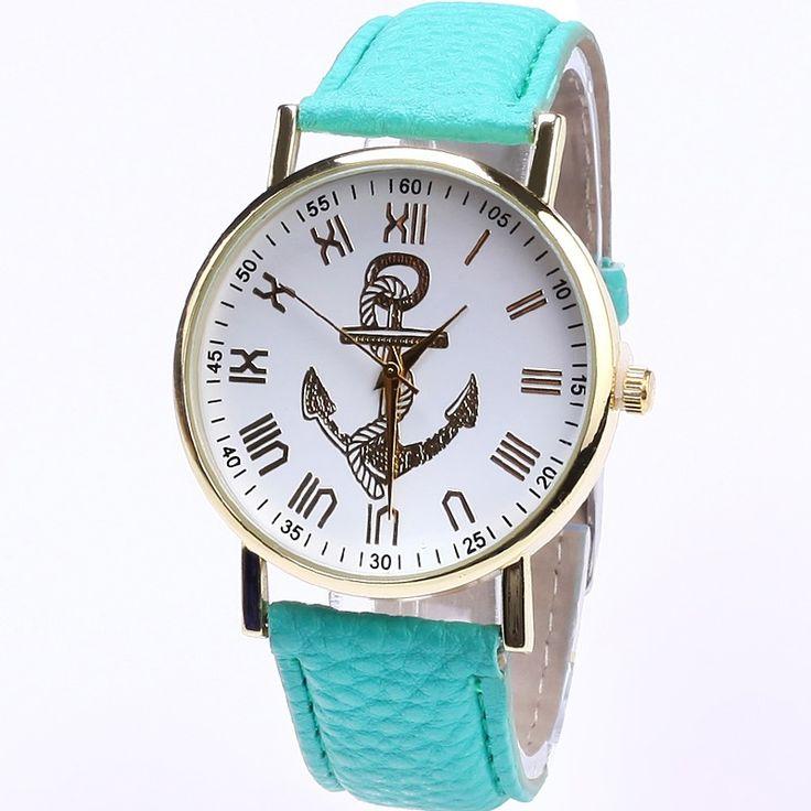 >> Click to Buy << TOP Retro Pu Leather Sailor anchor dial watch women Casual dress Reloj Para Dama sea woman #Affiliate