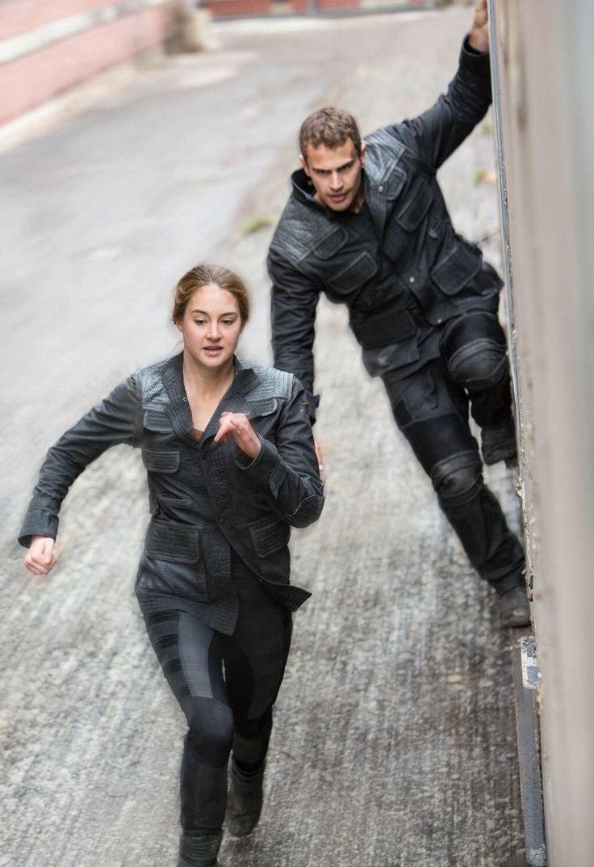 Tris: He's catching up! Run! Four: He, he, he! I'm going to get you!
