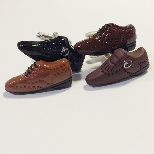 Italian style cufflinks! Handmade in Napoli....Shoes