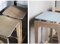 Bresil tall stools from Liam Treanor