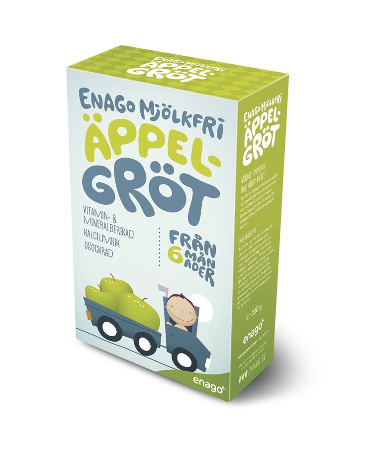 EnaGo Apple porridge is based on cereals and apples that gives a good taste. The porridge is of course unsweetened but the ingredients by themselves give a naturally sweet taste.