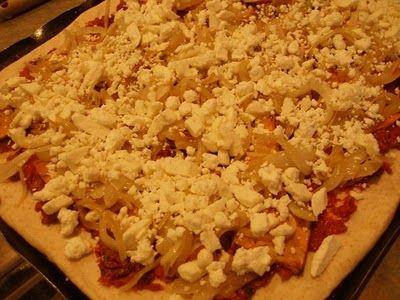 Sweet Potato, Caramelized Onion, & Feta Pizza... basically I have ...