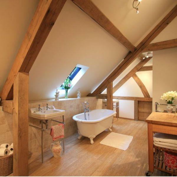 cooles-badezimmer-im-Dachgeschoss-einrichten Bad Pinterest - modernes einrichten dachgeschoss