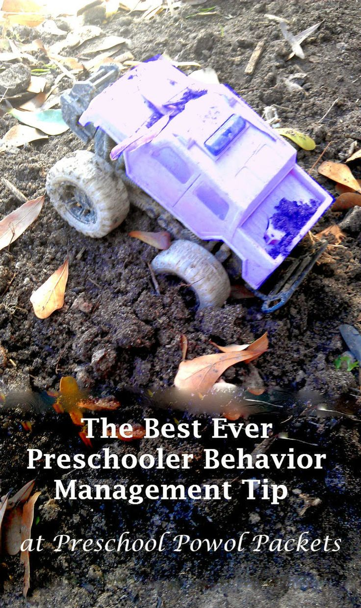 The Best Ever Preschooler Behavior Management Tip from Preschool Powol Packets