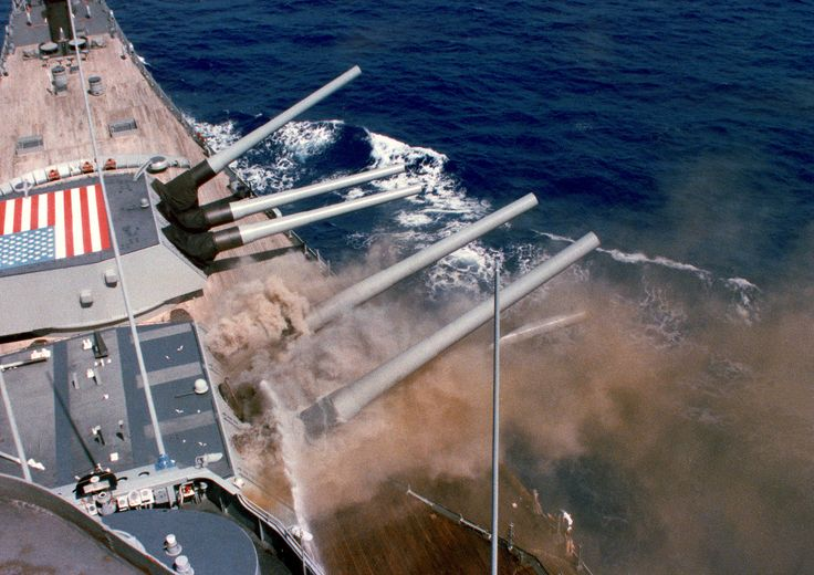 """""""When it all goes wrong"""":  the USS Iowa turret explosion, 19th April 1989. Firing 16 inch shells, requires tremendous firepower. Each shell was packed with """"cordite charges"""" behind, which would explode in the gun barrel, and propel the shell forwards. Unfortunately, working inside a gun turret, has always been regarded as a """"dangerous job"""". Here the very armour, that is designed to safeguard a battleship, and prevent it sinking; also doomed the sailors that worked inside, her """"B"""" gun turret."""