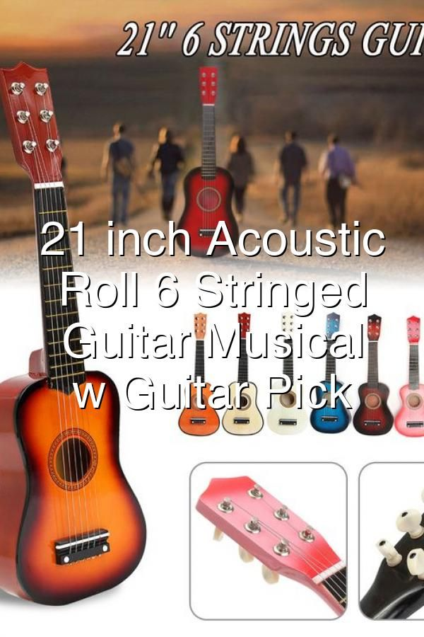 21 Inch Acoustic Rock Roll 6 Stringed Toy Guitar Musical Instrument W Guitar Pick Extra In 2020 Guitar Musical Instrument Musicals Musical Instruments