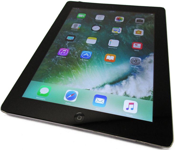 Unlocked GSM Apple iPad 4 4th Gen 32GB WiFi 4G AT&T Black iOS 10.2.1 Grade C #Apple