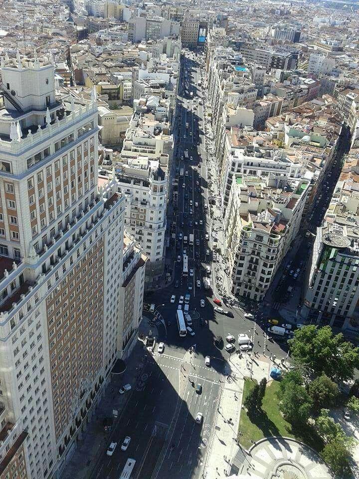 Gran Vía desde la Torre de Madrid