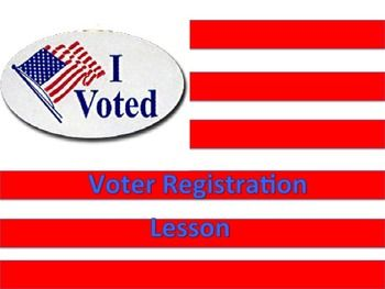 This lesson is designed to get students thinking about the voter registration process.  Included in the product are a complete lesson guide (downloadable as a preview), warm-ups, a graphic organiser, primary sources, and an exciting wrap-up exercise.  It is truly a lesson in a box, with everything that you would possibly need to be a rock-star teacher!