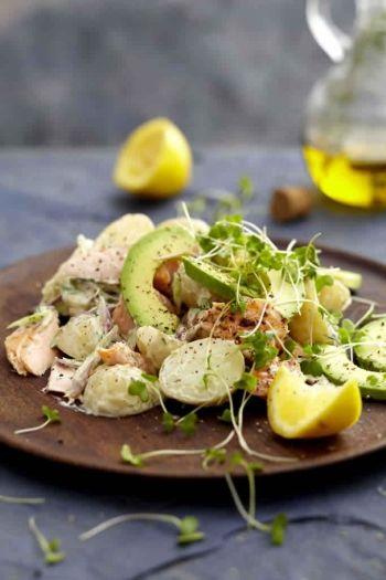 Trout, Horseradish & Baby Potato Salad recipe on www.nomu.co.za