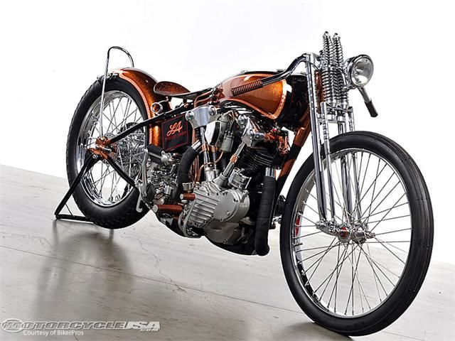 Harley-Davidson FL Knucklehead 1947 by Chris Richardson from LA Speed Chop | modified WL frame