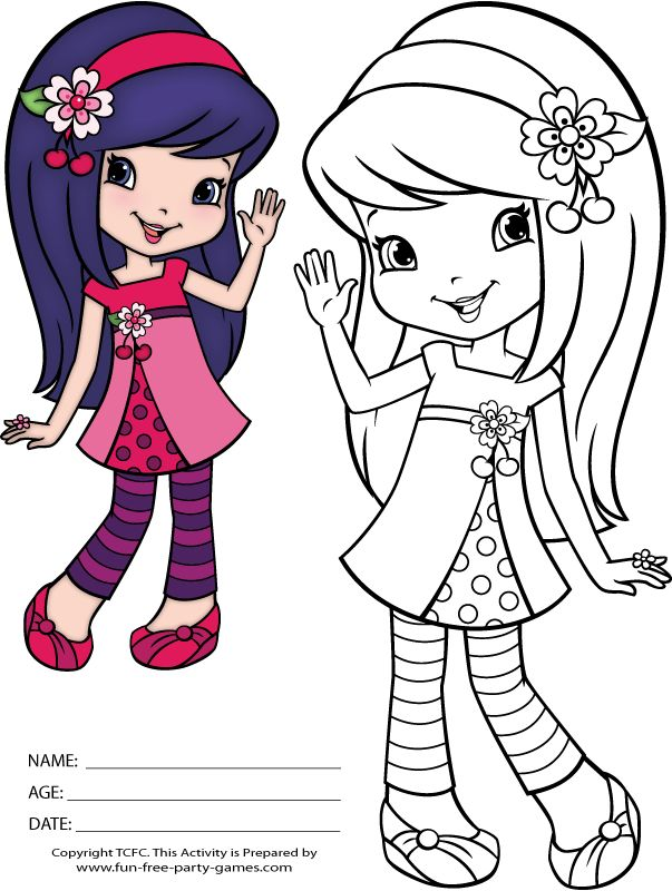 strawberry shortcake coloring pages cherry jam waves hello