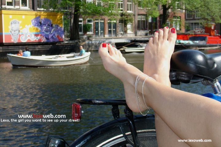 Barefoot cycling...