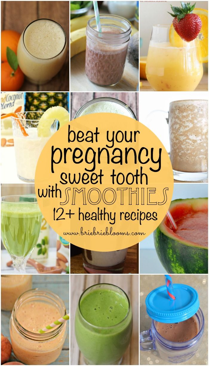 I've had a major sweet tooth this pregnancy but have done well avoiding unhealthy sugar by drinking smoothies instead. Beat your pregnancy sweet tooth with smoothies! This collection of healthy pregnancy smoothie recipes will get you started. #Foodie #FoodiebyGlam #ad