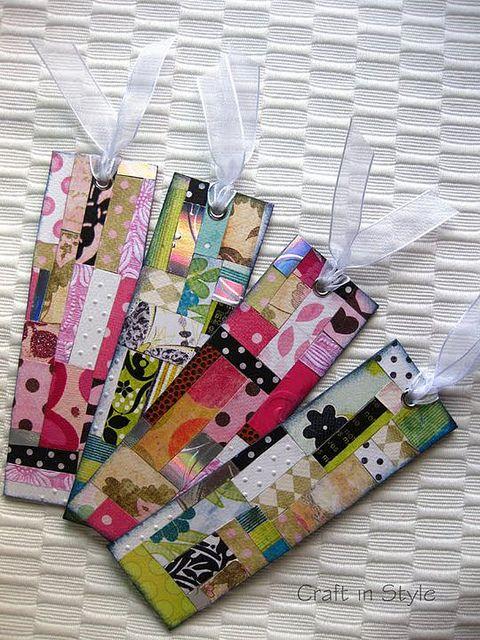 scrap paper bookmarks, via Flickr.