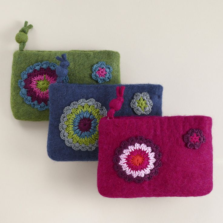 Felt Crochet Coin Purse | World Market