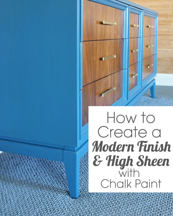 How to get a modern paint finish with chalk paint.  Skip the wax and use my method for a smooth satin finish!