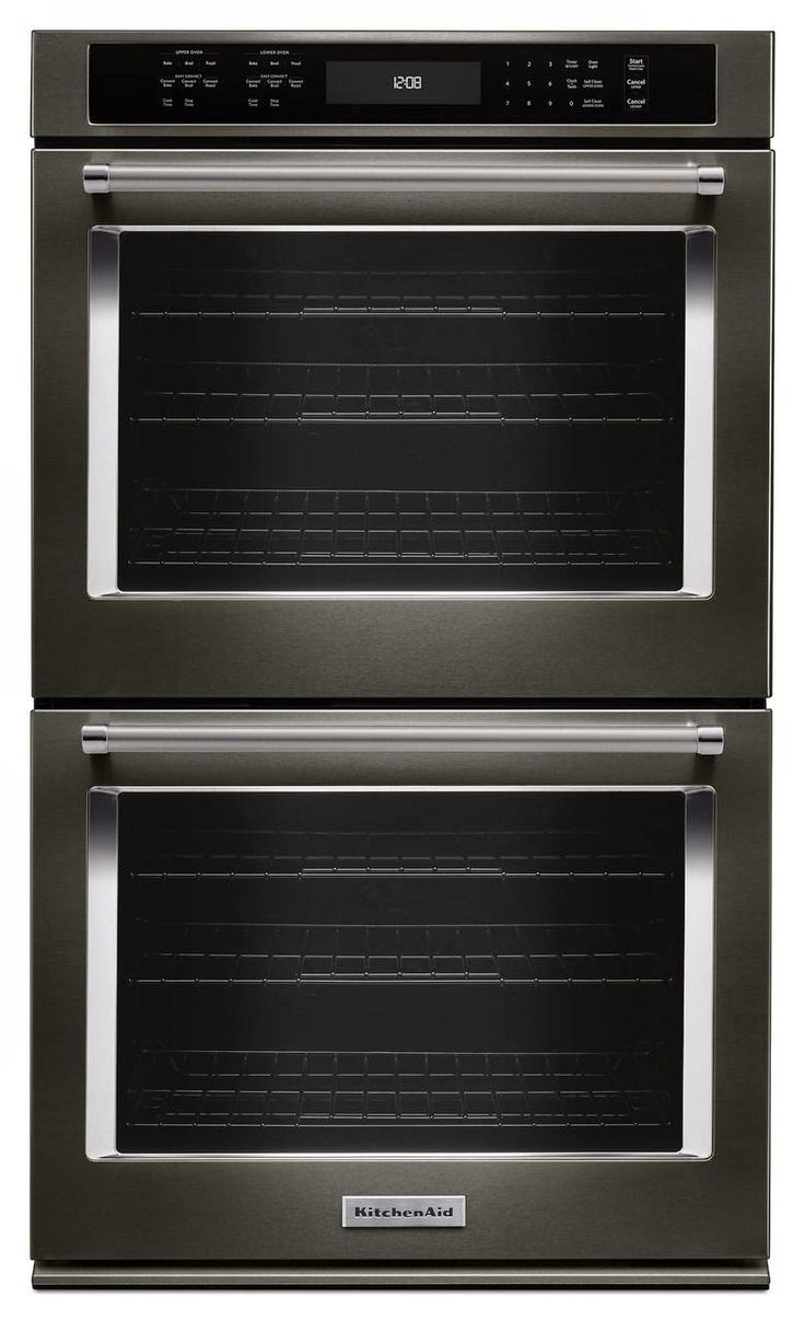 Whirlpool white ice double wall oven - Kitchenaid Black Stainless Steel Double Wall Oven