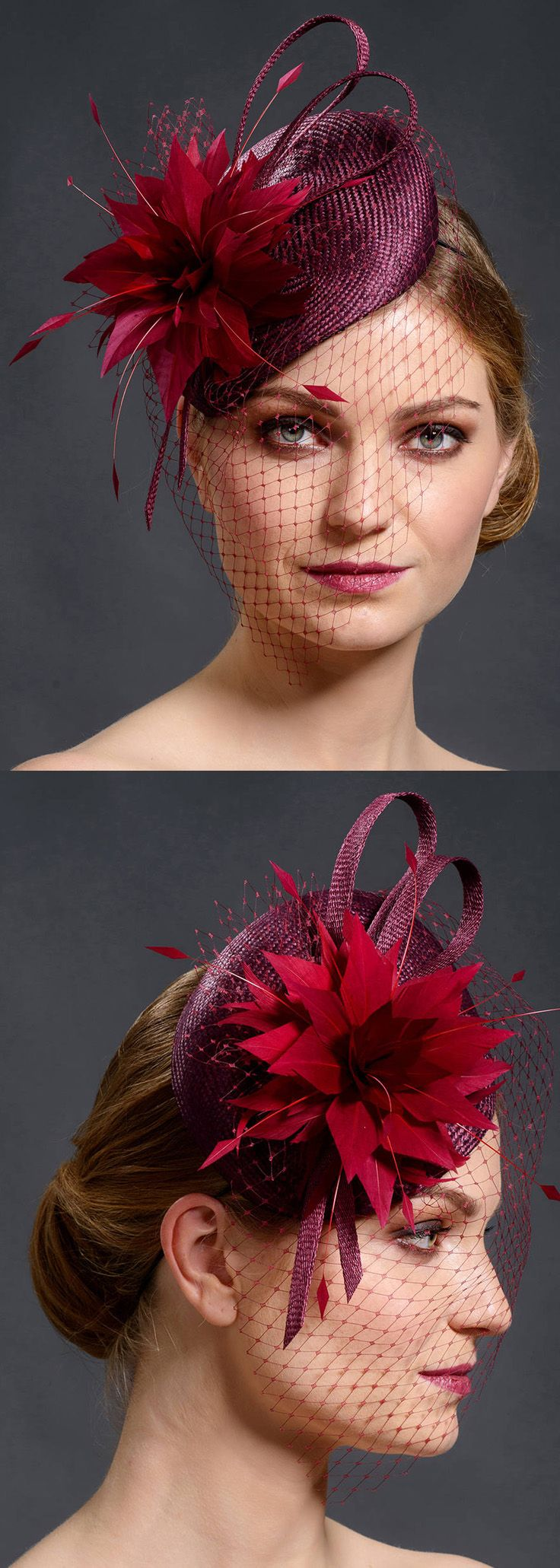 Etsy Designer fascinator headpiece. Burgundy Red fascinator for Mother of the Bride weddings, races, cocktail parties, Kentucky Derby, Royal Ascot, Cheltenham Festival or other special occasions Hat with Flowers. Feather fascinator for the Races outfit ideas. #royalascot #kentuckyderby #derbyhats #racingfashion #hatsforcheltenham #fashionsonthefield #hatsfortheraces #millinery #handmadeisbest #etsy #etsyfinds #affiliatelink #fashion #fashionista #ootd #floralfashion #fascinator…