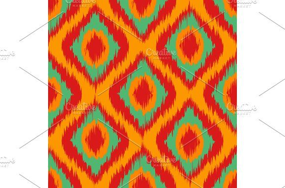 Seamless Camouflage Ogee in Ikat  by Rommeo79 on @creativemarket